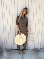 Tysa Yes We Can Jumpsuit in Olive