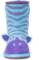 Muk Luks Zoo Babies Girls Zebra Boots - Toddler