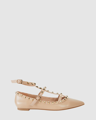 Pink Inc - Women's Nude Ballet Flats - Inez - Size One Size, 6.5 at The Iconic