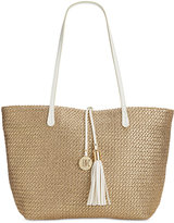 INC International Concepts La Izla Straw Beach Bag, Only at Macy's