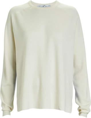 Tibi Mixed Merino Wool Crewneck Sweater