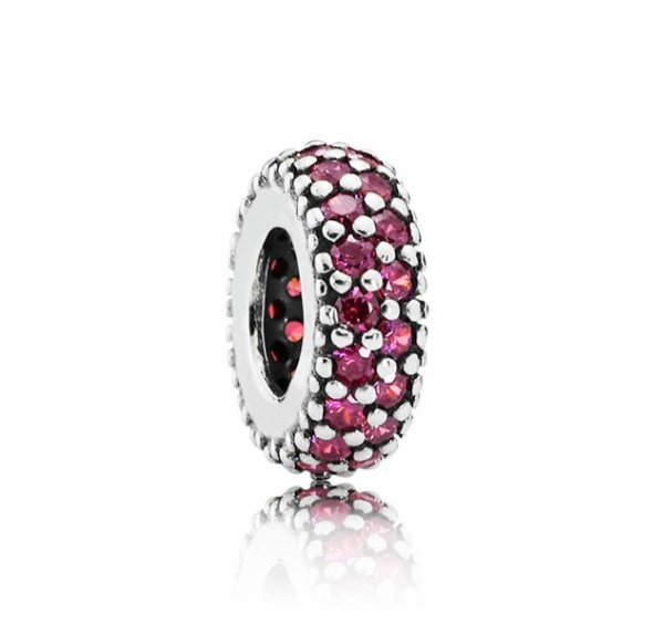 Pandora Royal Red Pave Inspiration Spacer Charm 791359CZR