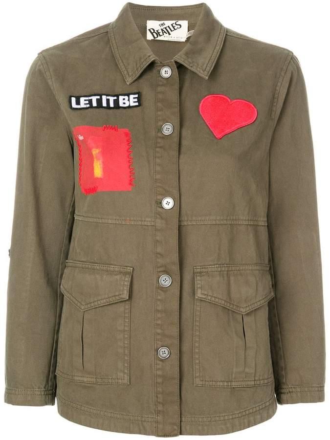Alice + Olivia Alice+Olivia patch military jacket