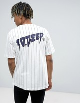 10.Deep Striped Baseball T-Shirt