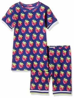 Hatley Girl's Organic Cotton Short Sleeve Applique Pyjama Sets