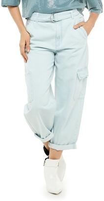 JLO by Jennifer Lopez Women's Denim Cargo Pant