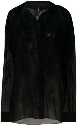 Alexandre Vauthier Velvet Detail Shirt