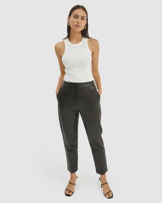 SABA Women's Black Leather Pants - Alice Leather Pants - Size One Size, 10 at The Iconic