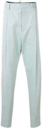 DSQUARED2 Checked High Waist Trousers