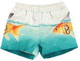Molo Newton Goldfish Swim Trunks, Blue, Size 3-24 Months