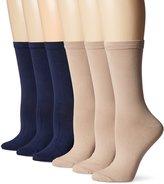 Peds Women's Dress Crew Socks 6 Pairs