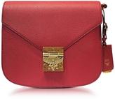 MCM Small Ruby Tan Leather Patricia Park Avenue Shoulder Bag