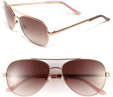 Kate Spade Women's 'Avaline' 58Mm Aviator Sunglasses - Rose Gold/ Brown Gradient