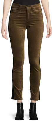 AG Jeans Mari Tuxedo Stripe Velvet Jeans