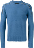 Joseph crew neck zipped jumper - men - Polyamide/Wool - S