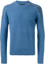 Joseph crew neck zipped jumper - men - Polyamide/Wool - XL