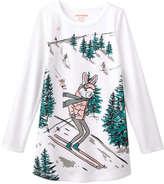 Joe Fresh Kid Girls' Long Sleeve Sleep Chemise, Off White (Size M)