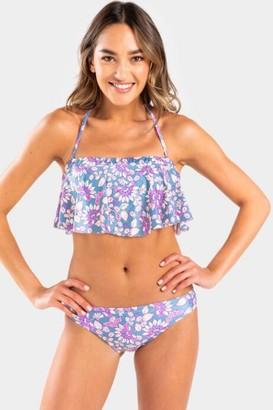 francesca's Freya Floral Cheeky Swimsuit Bottom - Multi