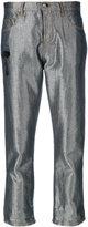 Fendi cropped trousers - women - Cotton/Polyethylene/Viscose - 38