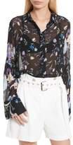 3.1 Phillip Lim Women's Bell Sleeve Silk Blouse