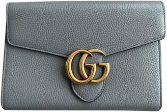 Gucci Marmont Grey Leather Handbags