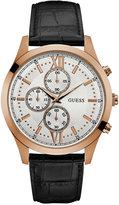 GUESS Men's Chronograph Hudson Black Leather Strap Watch 43mm U0876G2