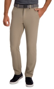 Haggar The Active Series Slim-Straight Fit Flat Front Urban Pant
