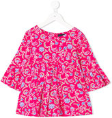 Oscar De La Renta Kids lotus flower bell sleeve blouse