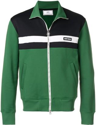 Ami Paris Paris patch zipped sweatshirt