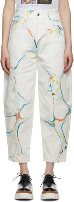 Stella McCartney White Graphic Print Jeans