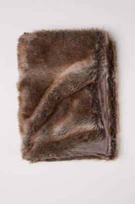 H&M Faux Fur Bed Runner - Brown