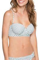 Betsey Johnson Polka-Dotted Underwire Bikini Top