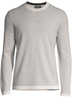 Theory Ollis Striped Crewneck Sweater