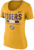 Nike Women's Lsu Tigers Sideline Scoop T-Shirt