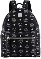 MCM Small Stark Backpack, White, One Size