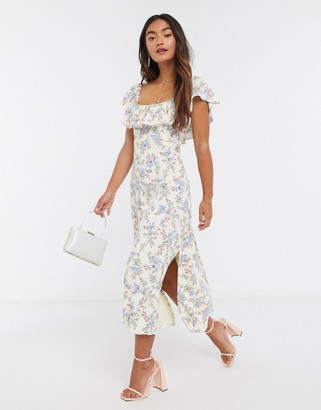 Forever New square neck midi dress in floral