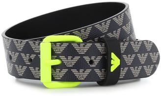 Emporio Armani Kids Logo faux-leather belt