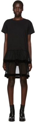 RED Valentino Black Point DEsprit Ruffle Dress