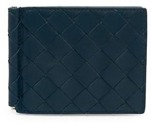 Bottega Veneta Intrecciato Leather Money Clip Wallet