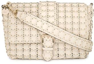 Red(V) Flower Puzzle shoulder bag