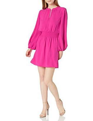 Trina Turk Women's Kaneshon Smocked Waist Long Sleeve Dress
