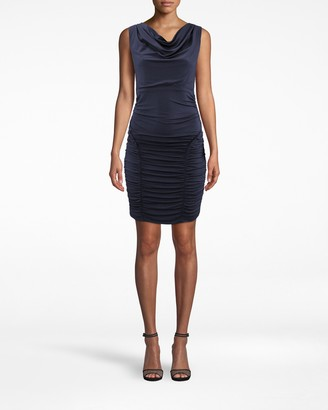 Nicole Miller Jersey Ruched Dress