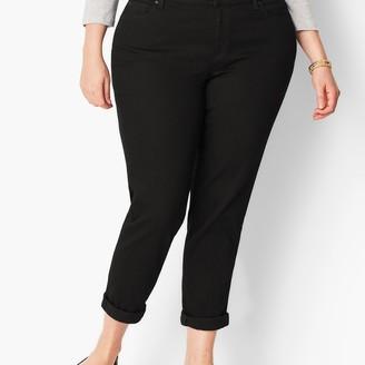 Talbots Plus Size Girlfriend Jeans - Curvy Fit - Black