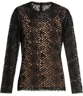 Alexander Wang Long-sleeved corded-lace top