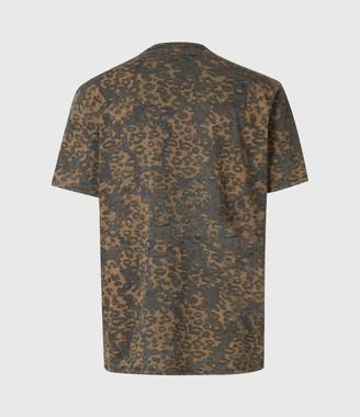 AllSaints Khaki Camo Crew T-Shirt