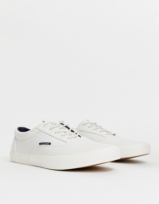 Jack and Jones canvas sneaker in white