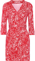 Diane von Furstenberg New Julian printed wrap stretch-jersey mini dress