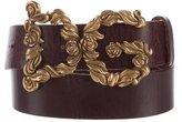 Dolce & Gabbana Embellished Logo Belt
