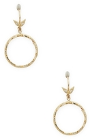 Mizuki 14K Gold Small Petal Hoop Earrings