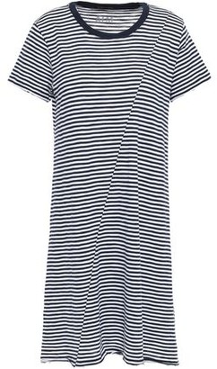 ATM Anthony Thomas Melillo Striped Supima Cotton-jersey Mini Dress